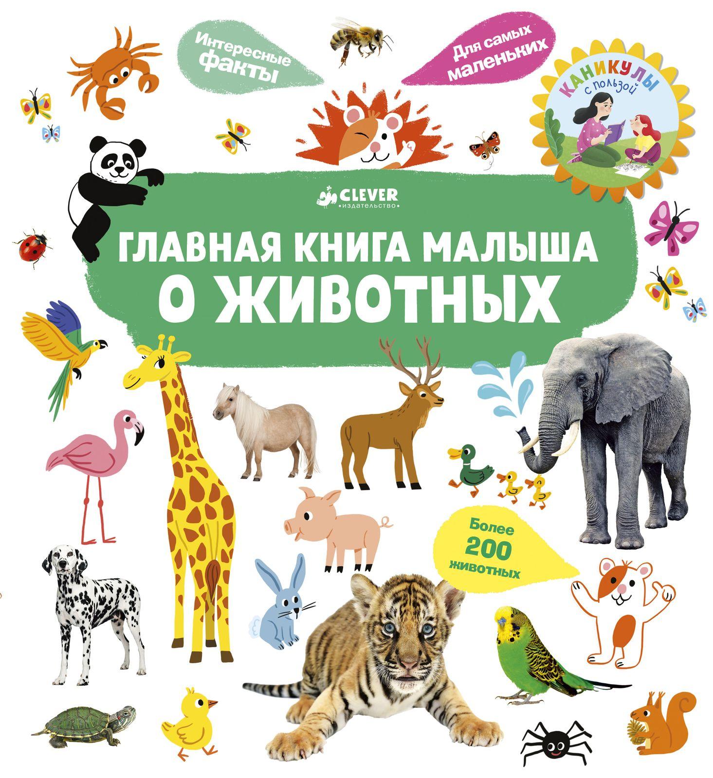 Купить Главная книга малыша. О животных, Издательство Клевер